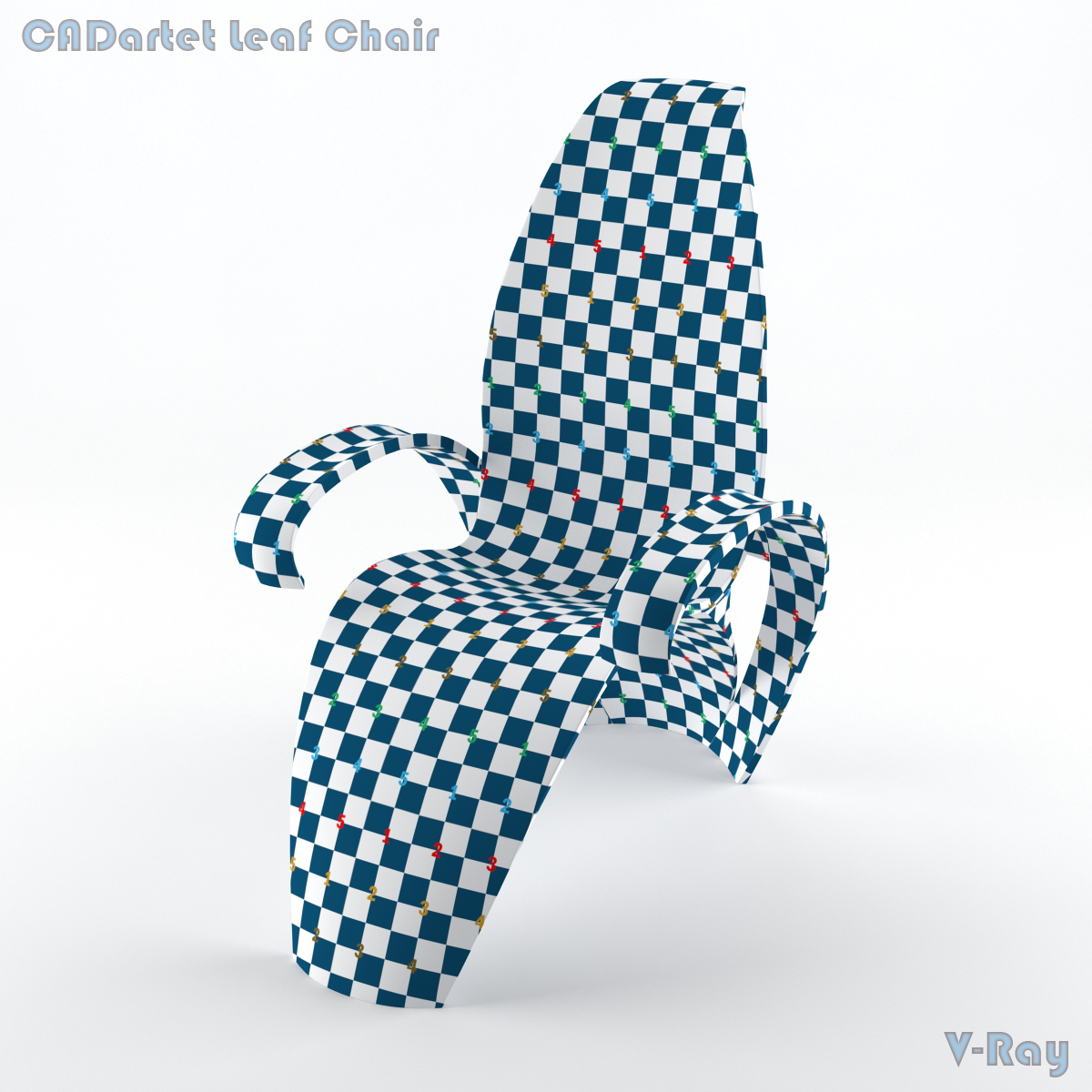 cadartet artet design leaf chair cadeira folha checker map
