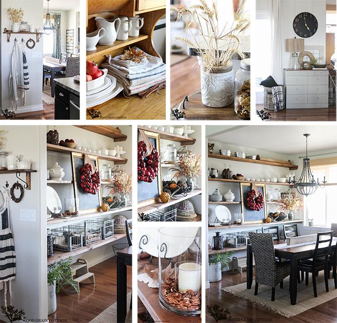 Decoración casa en otoño, detalles decorativos