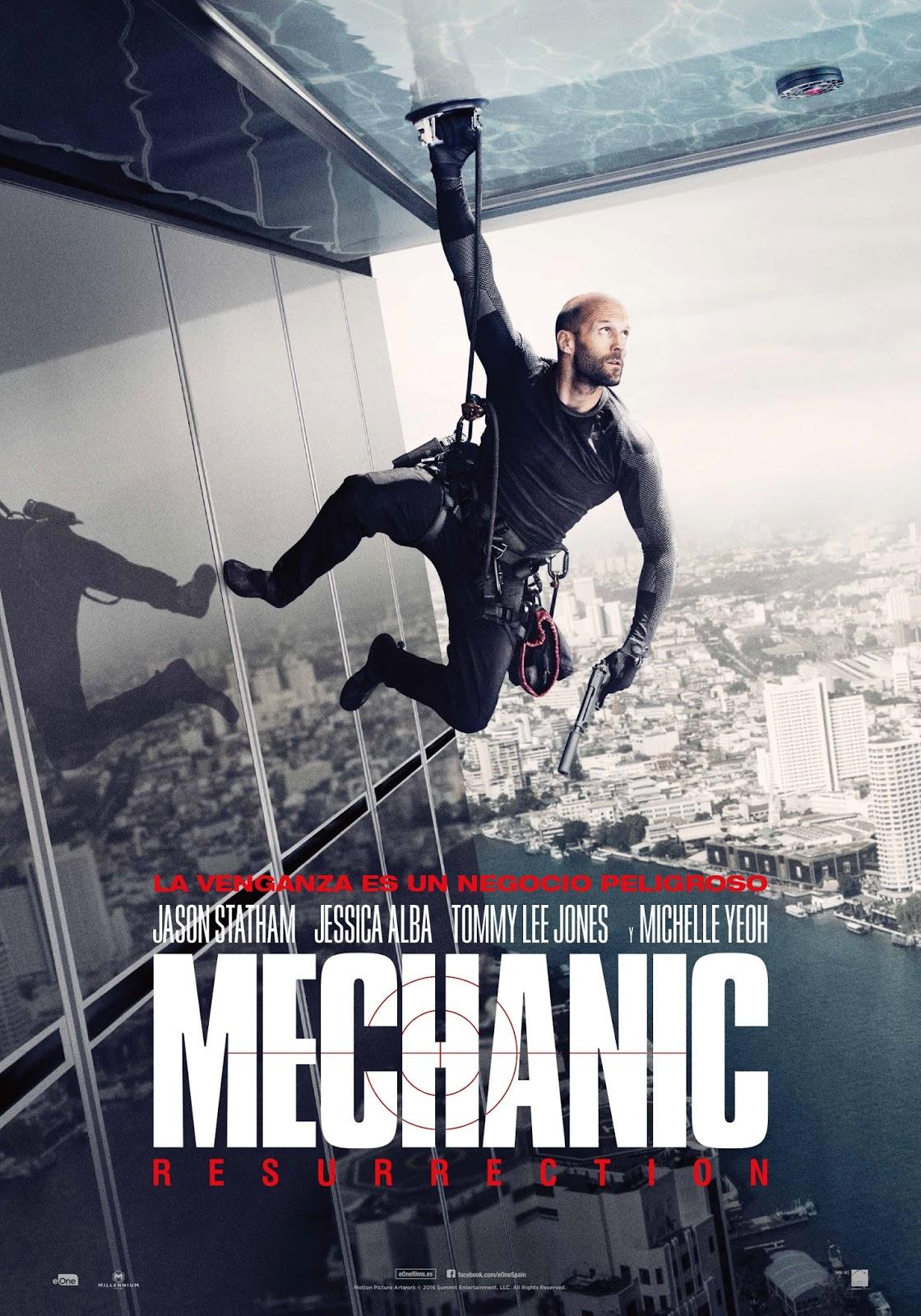 Tráiler y póster español de 'Mechanic: Resurrection' con Jason Statham