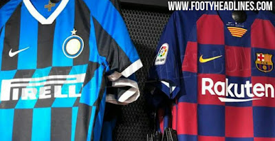 40703b128 Nike FC Barcelona   Inter Milan 19-20 Home Kits Leaked In Nike Store