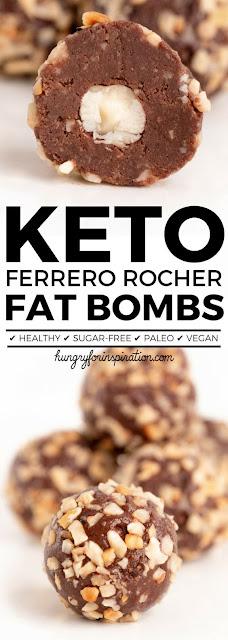 Healthy No Bake Ferrero Rocher Keto Fat Bombs (Paleo & Vegan)