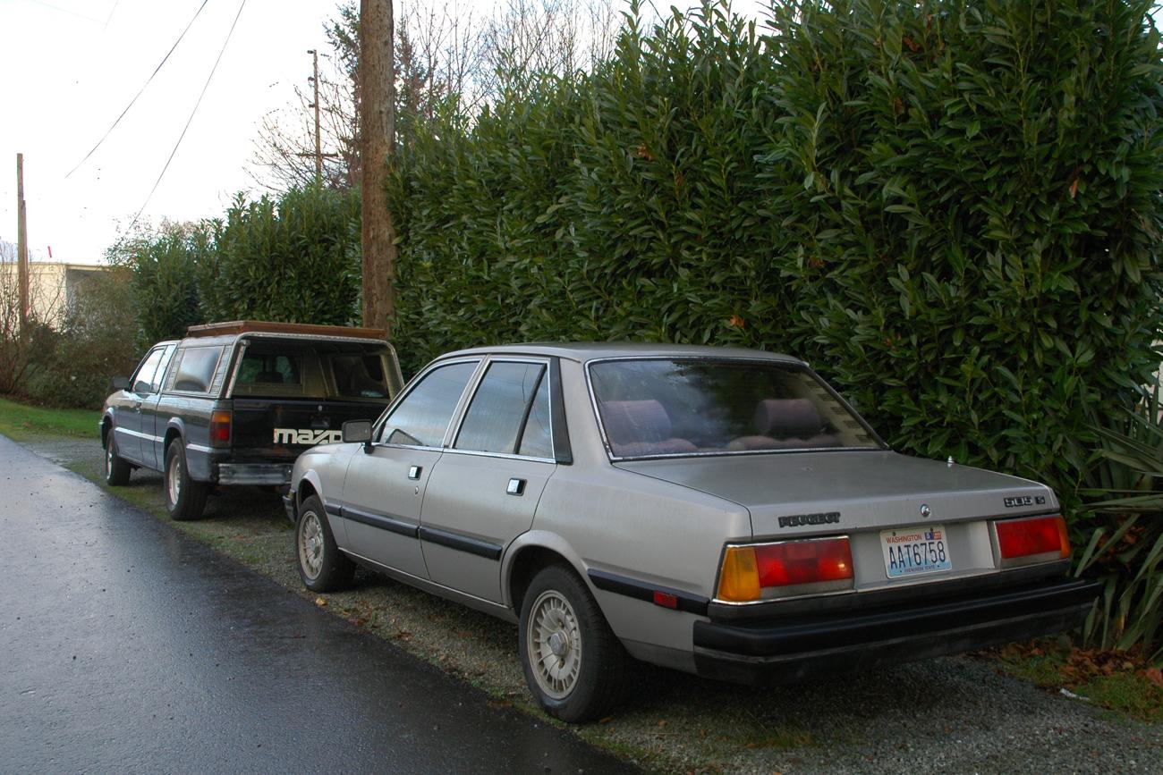 old parked cars 1986 peugeot 505 s. Black Bedroom Furniture Sets. Home Design Ideas