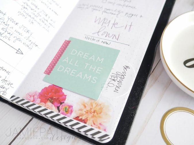 Heidi Swapp Travelers Notebook Memory Planner by Jamie Pate  |  @jamiepate for @heidiswapp