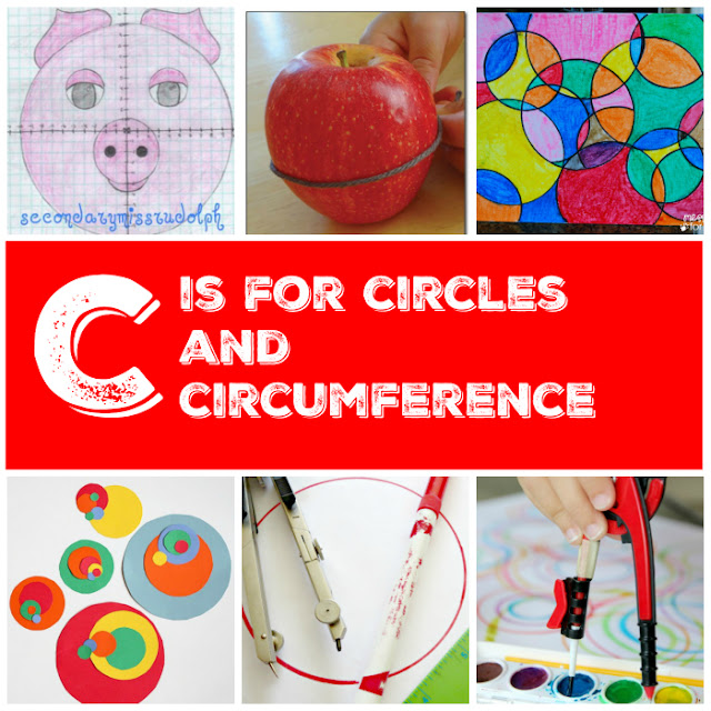 Art projects, websites, and books to teach circumference equations and Pi constant
