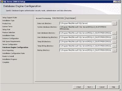 Change SQL backup location