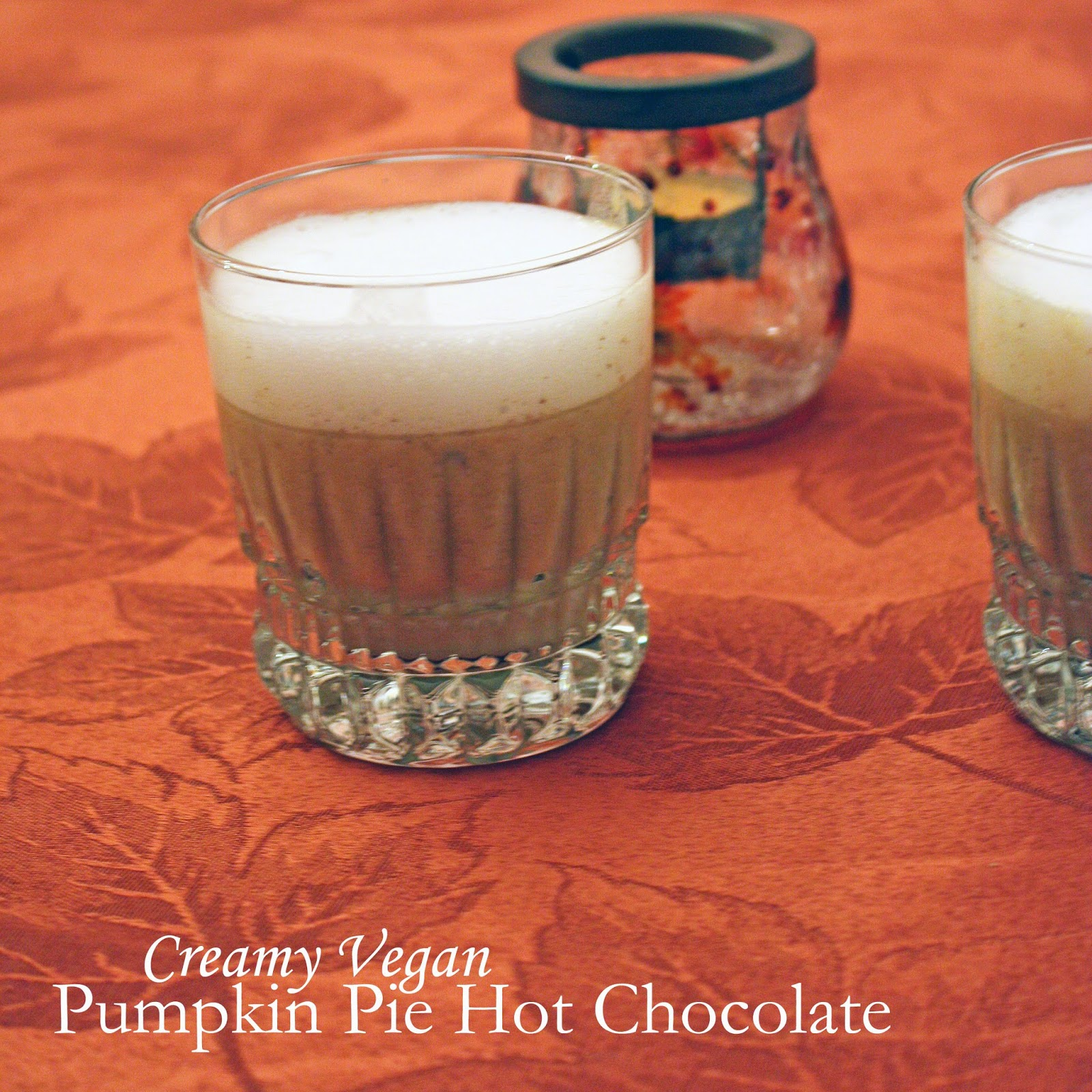 Creamy vegan pumpkin pie white hot chocolate