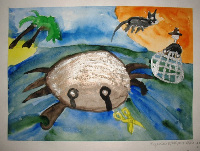 Sea crab that played with the sea