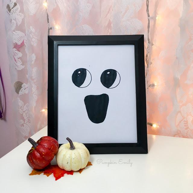 Halloween DIY Ghost Frame Art