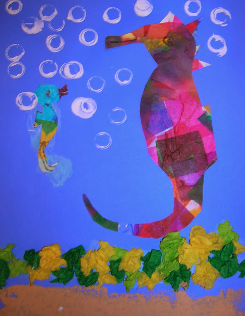 Freedom Elementary' Art Grade 2 . Seahorse