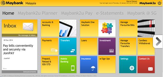Maybank2u Malaysia Wajah Baru