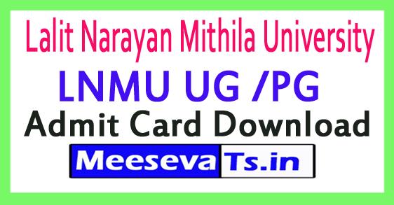 Lalit Narayan Mithila University LNMU UG /PG Admit Card Download 2017