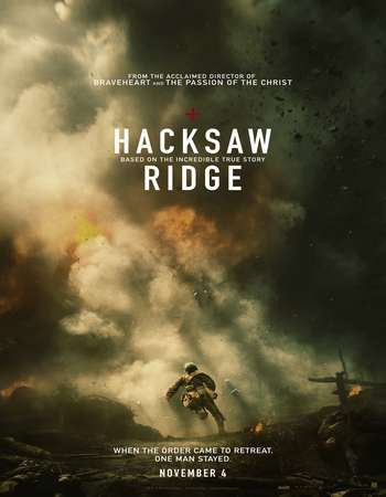 Poster Of Hacksaw Ridge 2016 English 700MB HDCAM x264 Free Download Watch Online downloadhub.net