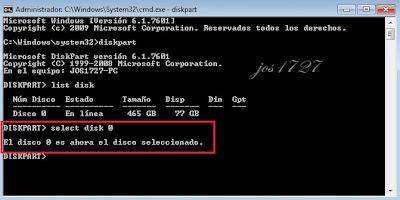 eliminar particion system windows 7