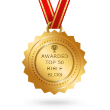 In the top 50 Bible blogs!