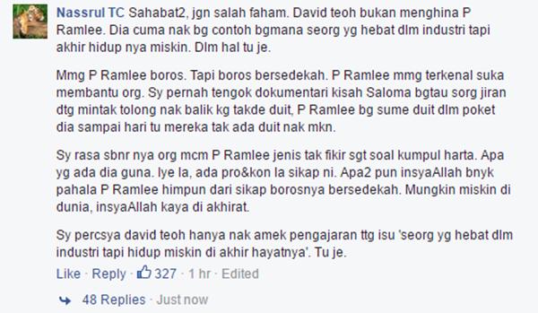 Didakwa 'Hina' Allahyarham P. Ramlee, David Teo Dikecam Hebat Netizen Bikin Panas!
