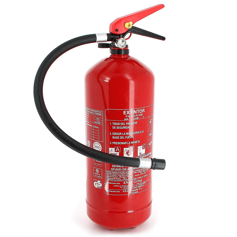 RIPCI y Apto para la Nueva Legislaci/ón Normaluz RD00A106 Se/ñal Luminiscente Extintor Co2 CTE Clase B PVC 0,7mm 21x21cm con CTE