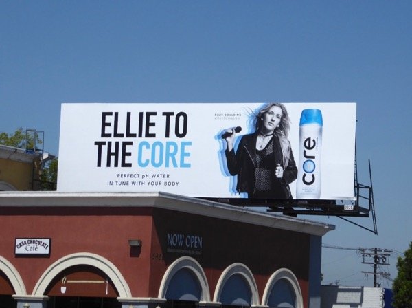 Ellie Goulding Core water billboard