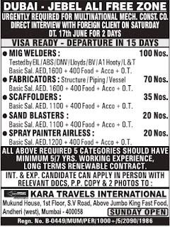 Dubai - Jebel Ali Free Zone MNC Company jobs