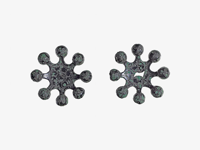 청동 방울(八珠鈴, 銅鈴, 팔주령, 동령), 초기철기, 지름 14.5cm, 지름 12.5cm, 국보 제143호