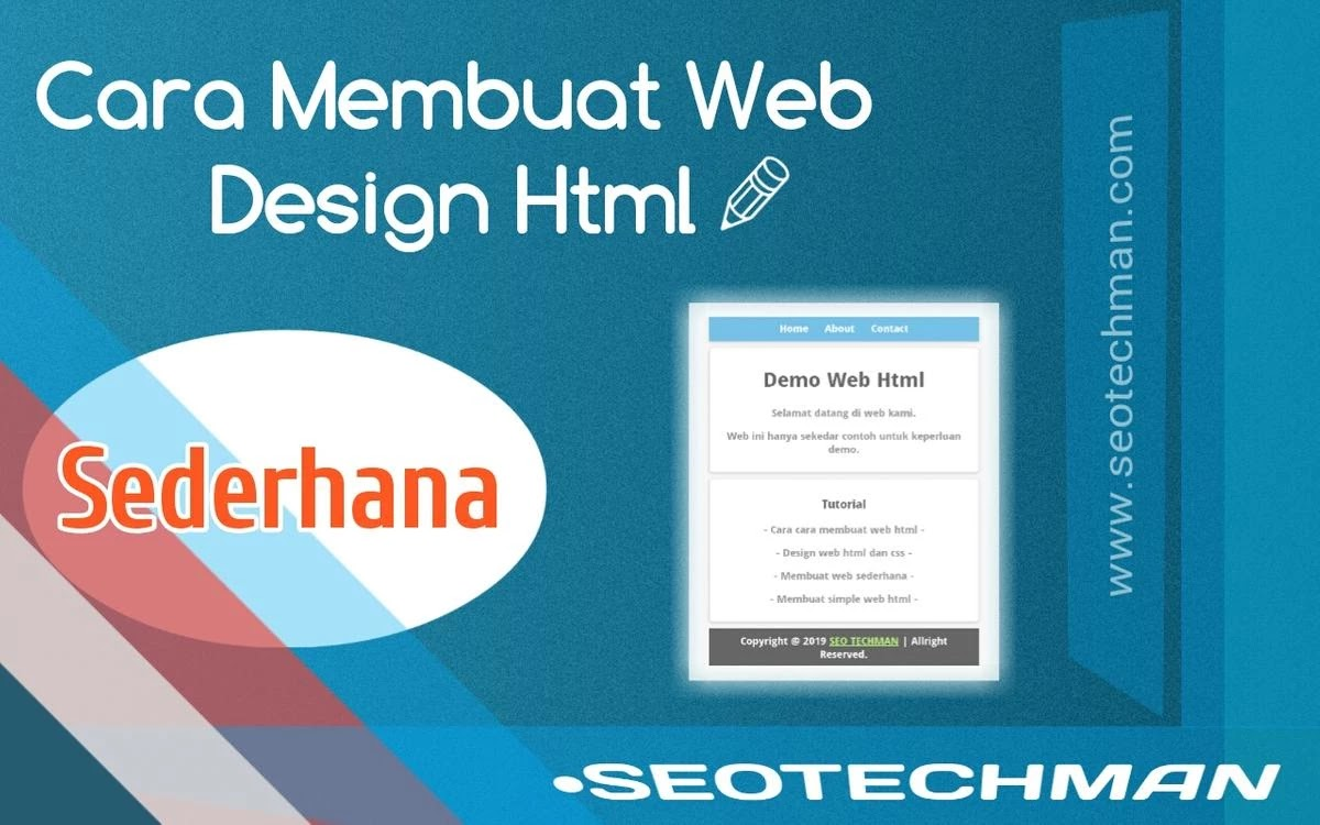 Cara Membuat  Web Design Html Sederhana