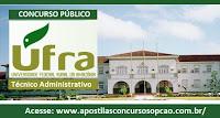 Apostila Concurso Universidade Federal Rural da Amazônia - UFRA Pará 2016, Grátis CD.