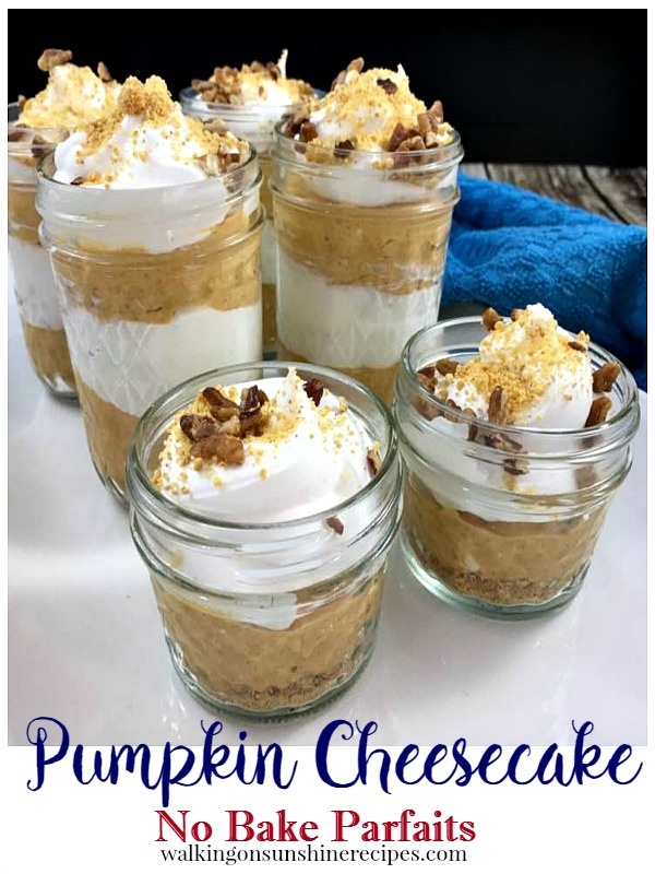 Pumpkin Cheesecake:  How to Make an Easy No Bake Dessert from Walking on Sunshine Recipes.