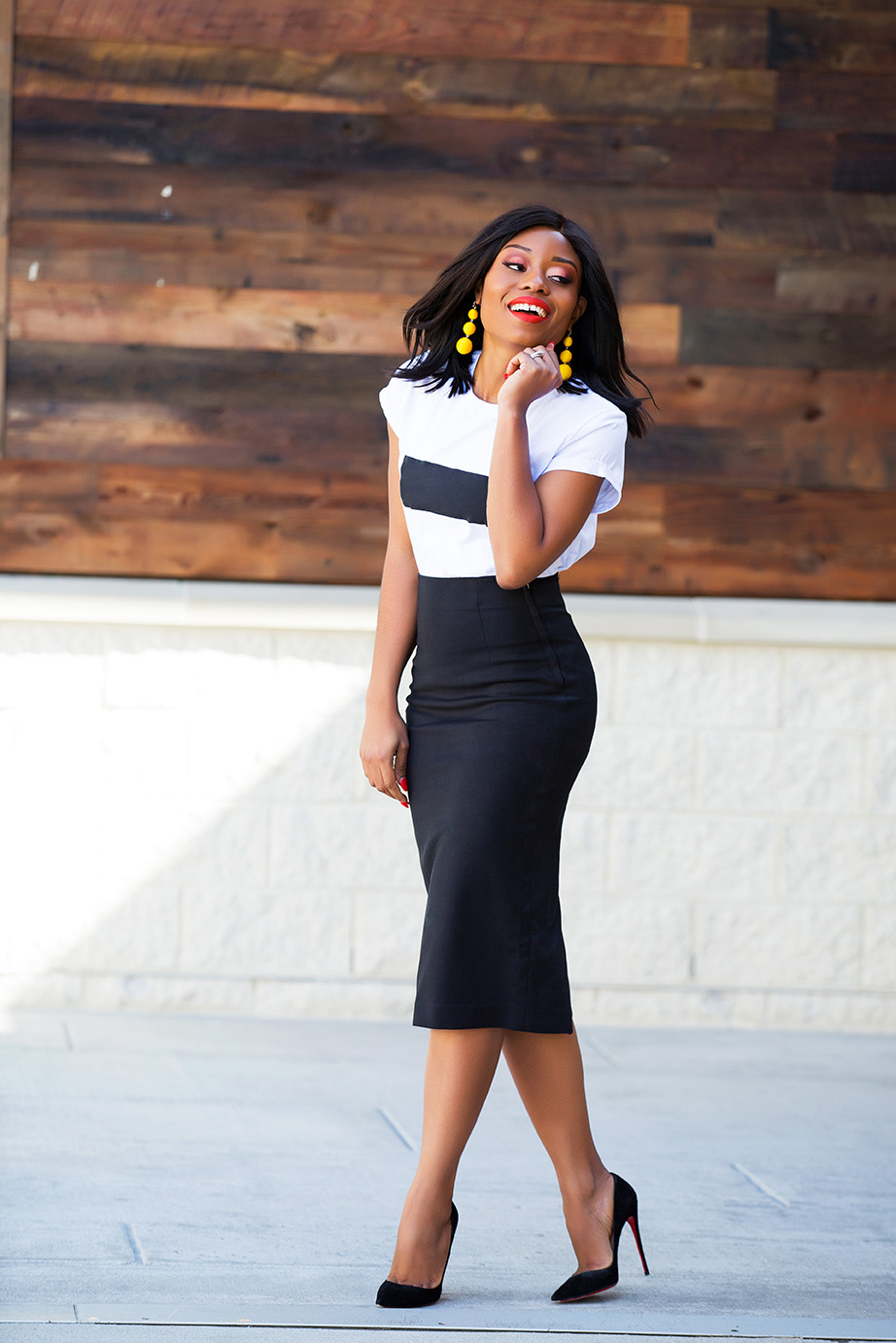 summer work style, pencil skirt, www.jadore-fashion.com