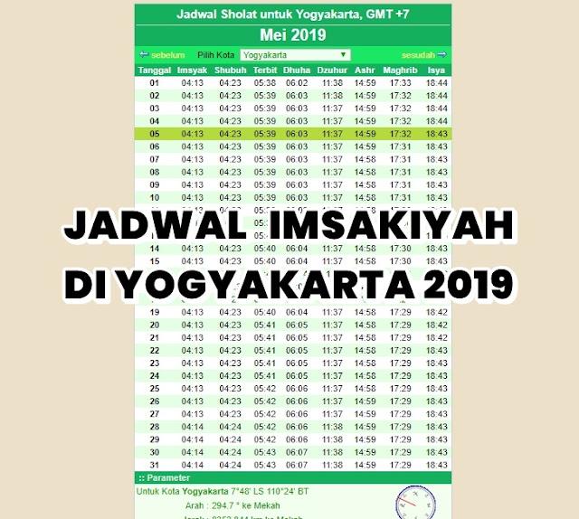 Jadwal Imsakiyah Ramadhan 2019 Di Jogja