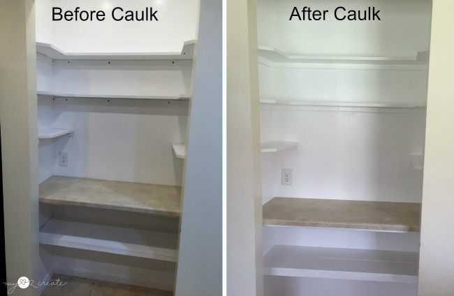 Caulking shelves