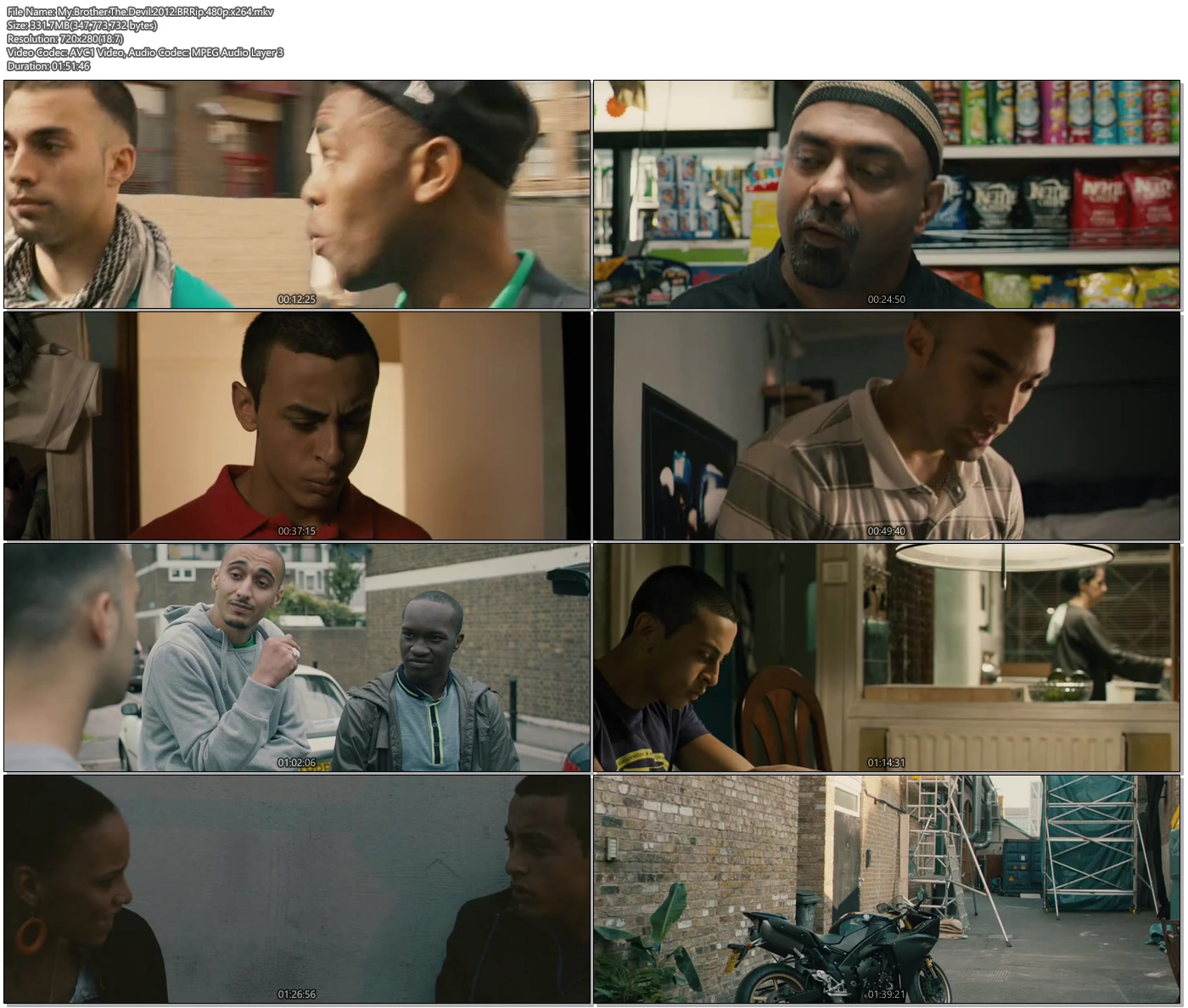 My Brother The Devil 2012 BRRip 480p 300MB Movie Screenshot