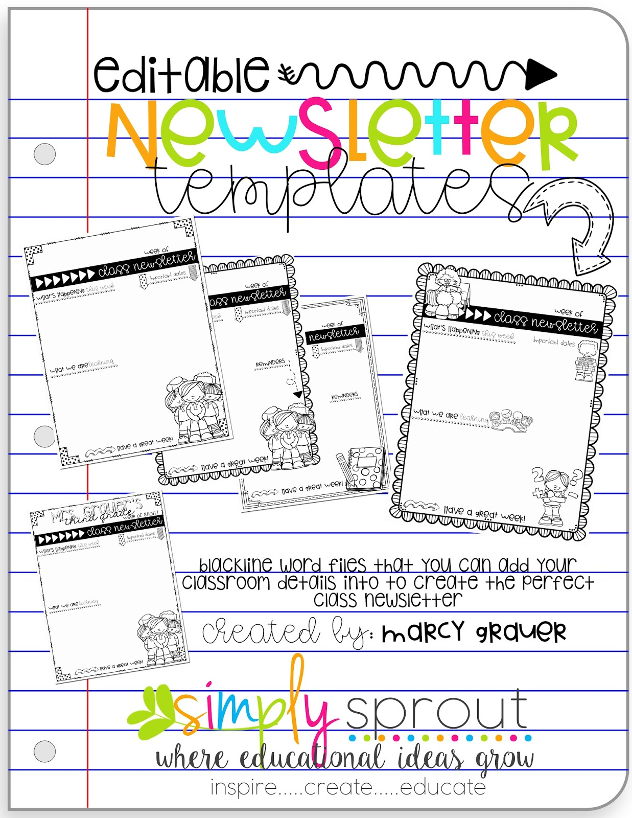 Get Back To School Ready With Editable Newsletter Templates Simply