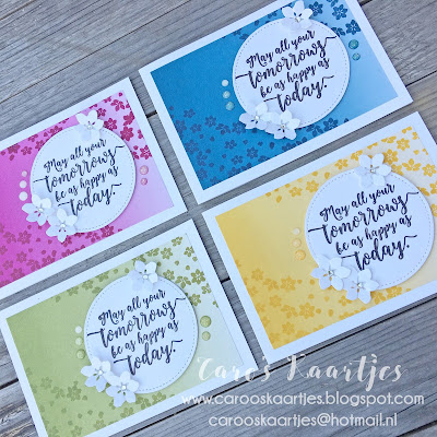 Stampin' Up! producten zijn verkrijgbaar via Caro's Kaartjes. Voor meer informatie mail naar carooskaartjes@hotmail.nl