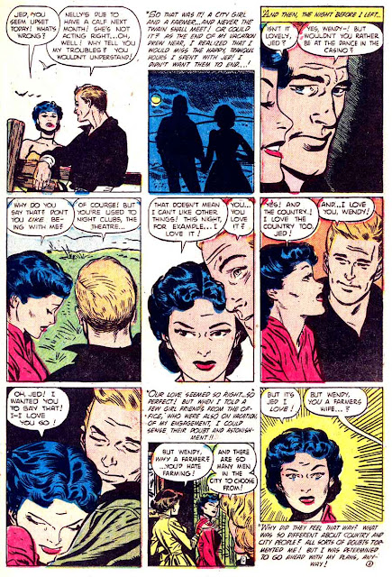 My Real Love v1 #5 standard romance comic book page art by Alex Toth