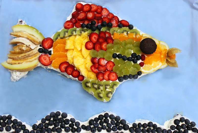 Fruity fish cake