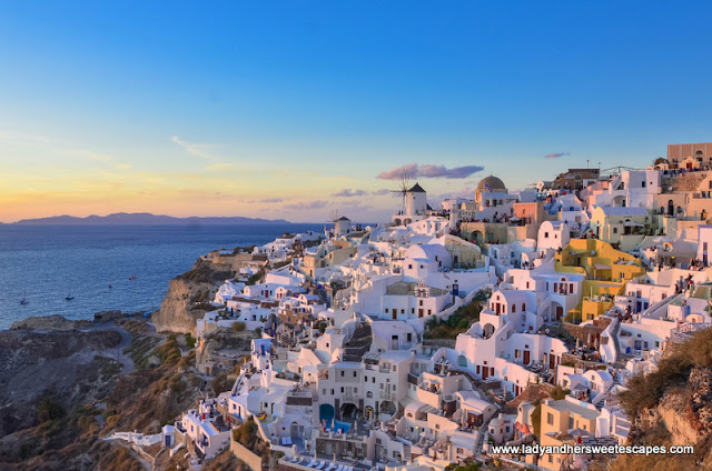Santorini at sunset