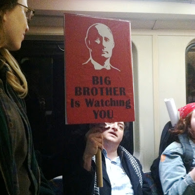 Boston Women's March Sign - Putin as Big Brother