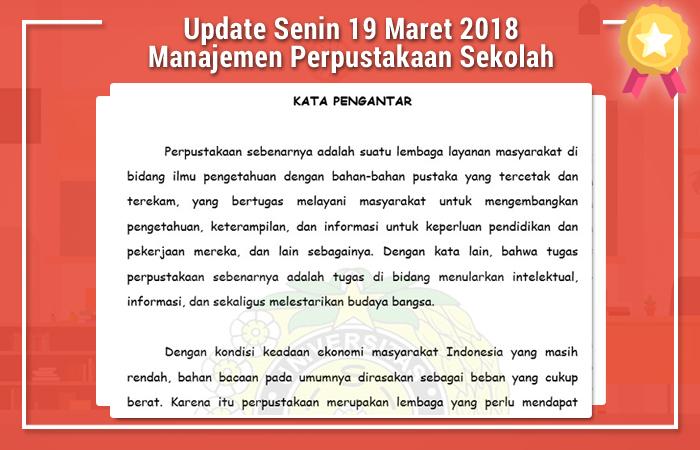 Update Senin 19 Maret 2018 Manajemen Perpustakaan Sekolah
