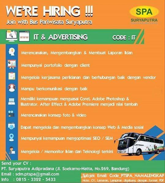 Loker IT dan Advertising di Bandung