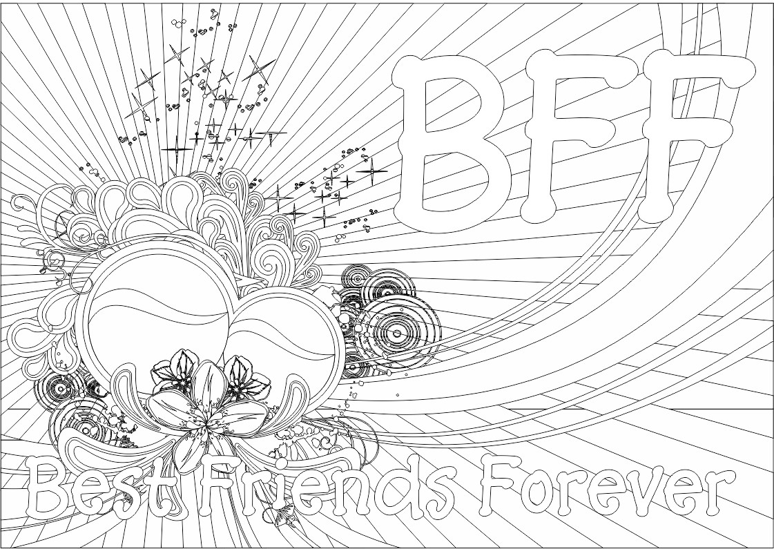 - ColorMeCrazy.org: New!! BFF Coloring Pages
