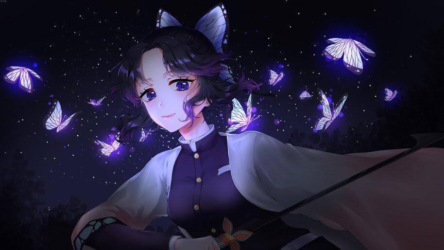 Shinobu, Butterflies, Kimetsu no Yaiba, 8K, #3.1448