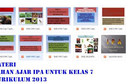 Materi Bahan Ajar IPA Kelas 7 Kurikulum 2013