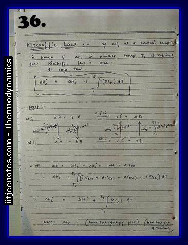 Thermodynamics Notes IITJEE 4