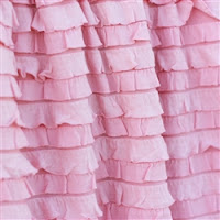 Pansy Pink Ruffle Shower Curtain