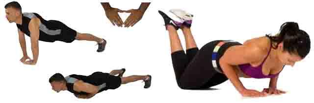 Flexiones de brazo tipo diamante para ganar fuerza