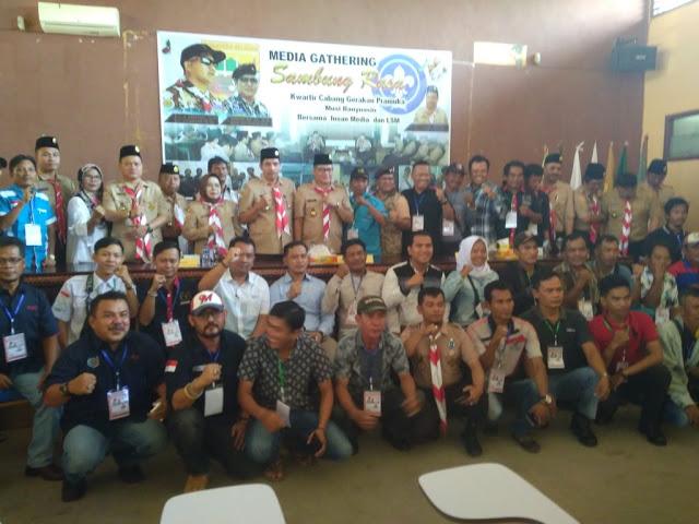 Bersinergi, Kwarcab Gerakan Pramuka Bersama Insan Pers dan LSM di Muba