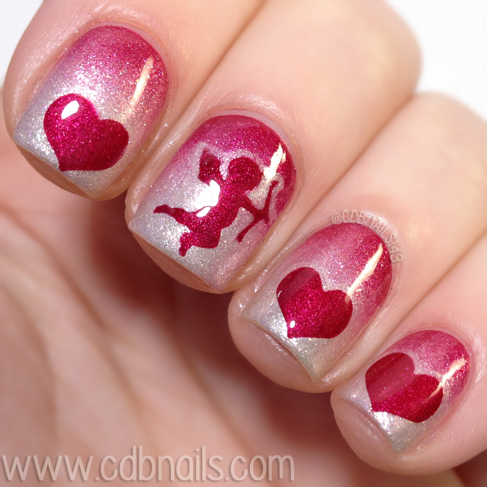 Cdbnails whats up nails 40 great nail art ideas love i did a red to white gradient and again like above used my uber mat to do the vinyls sealed it all with a glossy top coat prinsesfo Choice Image