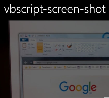 VBScript to capture a screenshot and save as a jpg ~ It's