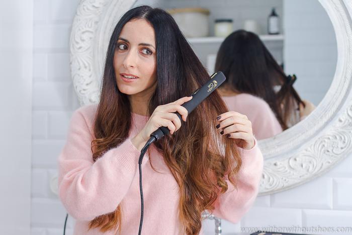 Opinion blogger influencer belleza probado planchas del pelo y rizadores de TITANIO de la marca GOLDEN CURL para pelo largo