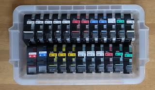テプラPROテープカートリッジも個人としては使い切れない量を持っています
