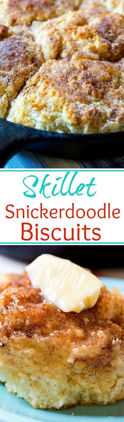 Skillet Snickerdoodle Biscuits